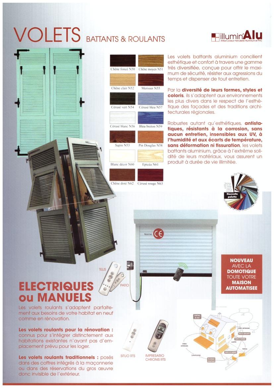 volets battants et roulants lectriques ou manuels illumin 39 alu. Black Bedroom Furniture Sets. Home Design Ideas